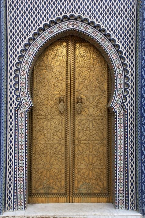 Doors Of The Royal Palace | file royal palace door in fez morocco jpg wikimedia commons