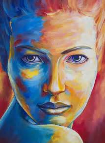 color portraits 1000 ideas about cool paintings on watercolor