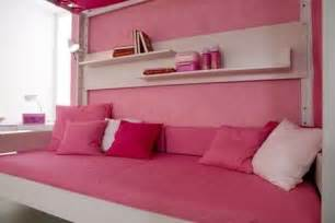 comfortable sofa under the canopy bed s room