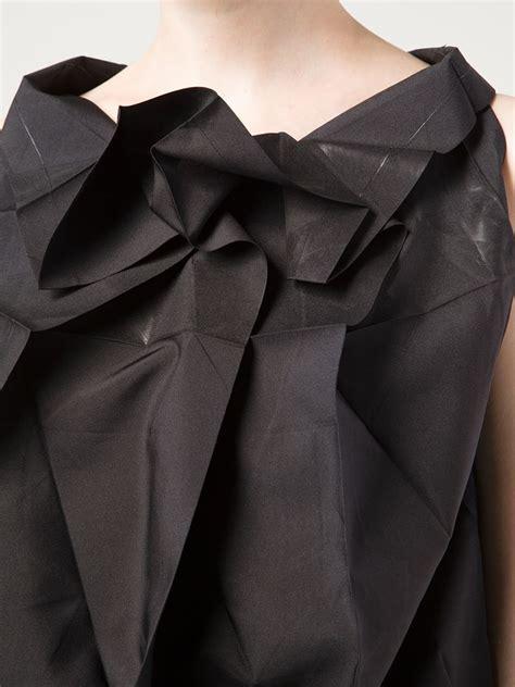 Issey Miyake Origami - 132 5 issey miyake origami style sleeveless top in black
