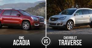 top sized suv chevrolet traverse vs gmc acadia