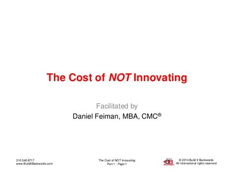 Average Cost Of An Mba 2014 by The Cost Of Not Innovating