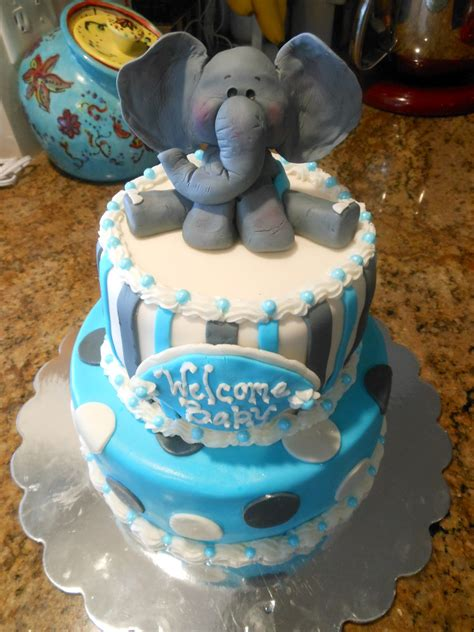 Baby Shower Cakes With Elephants by Patty Cakes Baby Shower Elephant Cake