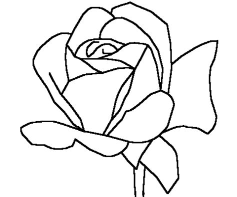 rose coloring pages easy simple rose outline for fabric print art printmaking