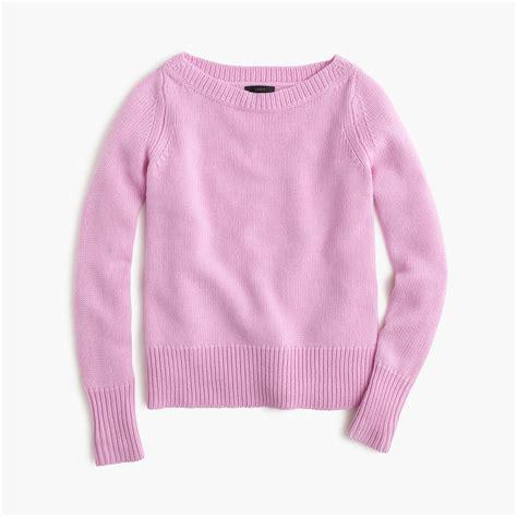j crew boatneck sweater j crew wool boatneck sweater in pink lyst