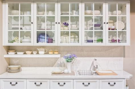 Glass Front Cupboard - an alternative to wood glass front cabinets kitchen