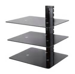 floating tv shelf mounted wall shelves glass lcd led tv x