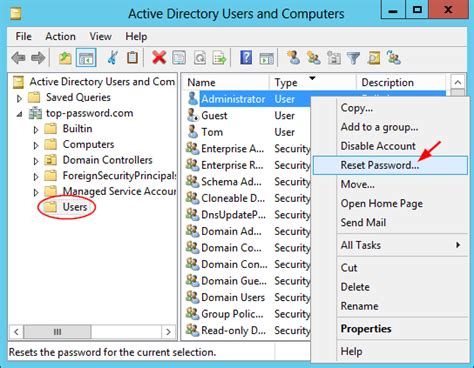 active directory console 5 ways to reset domain administrator password in windows
