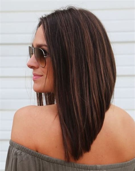 long bob angled hairstyles graduated layers medium length haircuts for square faces hairs picture