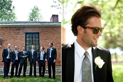 Groom, Best Man, and Groomsmen pose together in their