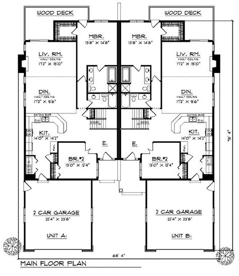 Multi Family House Plans Duplex 34 Best Images About Duplex On Traditional