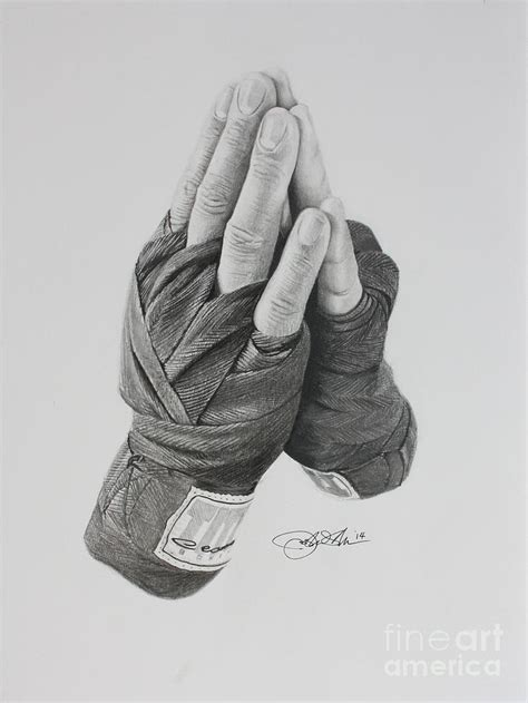 a boxer s prayer drawing by joshua navarra