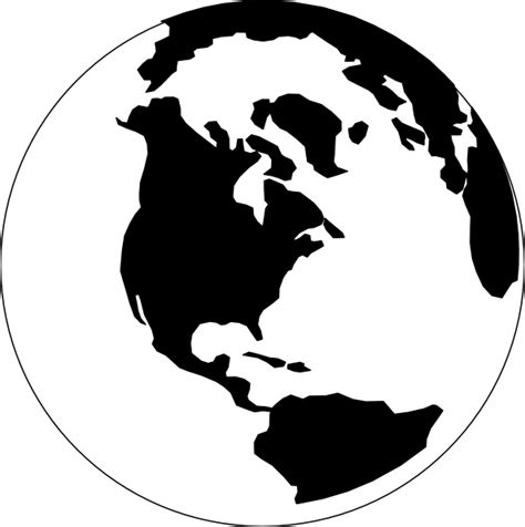 World Globe Clipart Black And White black and white world clip at clker vector clip royalty free domain