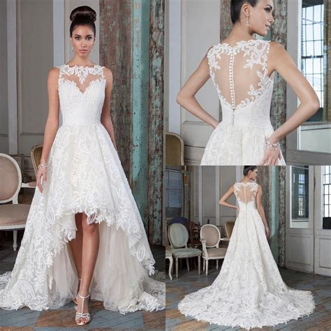 8 Beautiful Wedding Dresses For The Summer by Discount Plus Size Lace A Line Wedding Dresses 2016 High