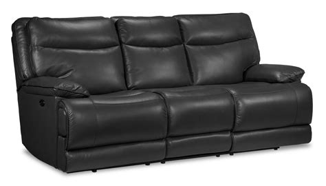 Grey Reclining Sofa Lanette Power Reclining Sofa Smoke Grey S