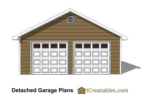 2 Door Garage Plans by 24x24 Garage Plans 2 Car Garage Plans 2 Doors