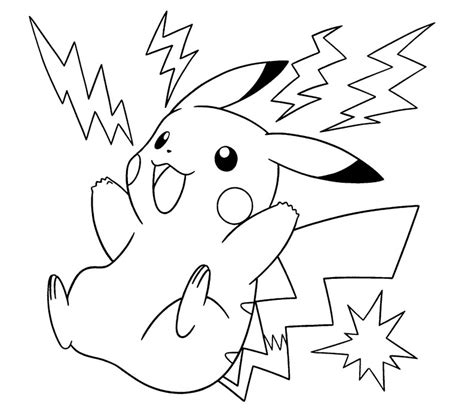 pikachu color page coloring pages pokemon images about
