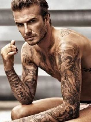 tattoo beckham side tattoos health warning over getting inked