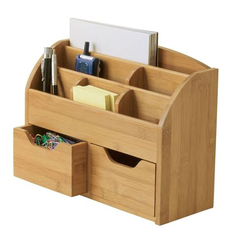 Lipper International Bamboo Space Saving Desk Organizer pin by thomason on projects for