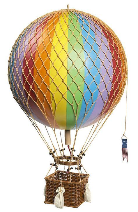 hot air balloon home decor rainbow striped 13 quot hot air balloon model aviation hanging