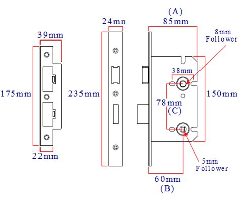 bathroom mortice lock sizes din style bathroom mortice lock 60mm backset 78mm