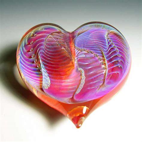 Robert Burch Glass Heavenly Heart   Robert Burch Glass
