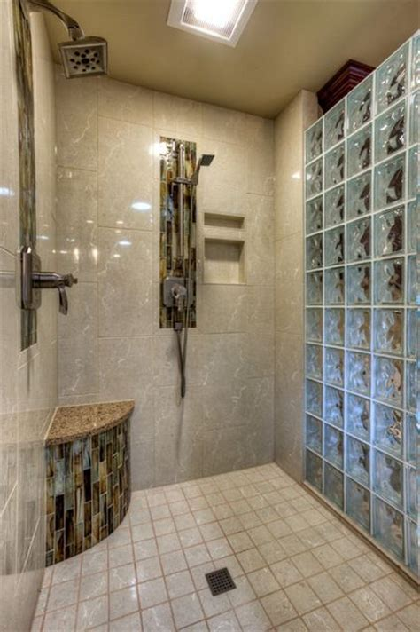 glass block bathroom shower ideas 30 best master bath decor images on pinterest glass