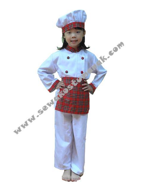 Baju Profesi Anak Kowad Size 5 kostum anak koki kostum profesi chef sewa kostum di