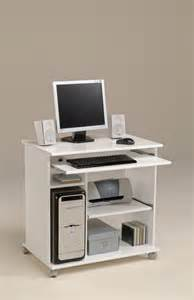 bureau pour ordinateur design bureau informatique mobile poppy3 blanc brillant tous