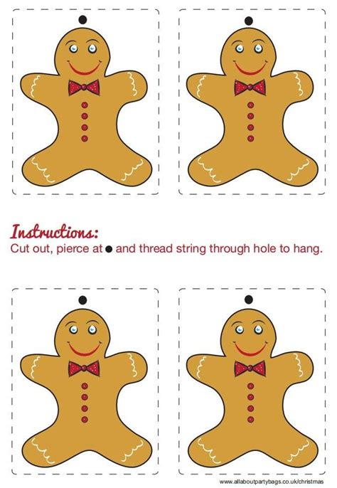 printable gingerbread man decorations 22 best free christmas printables images on pinterest
