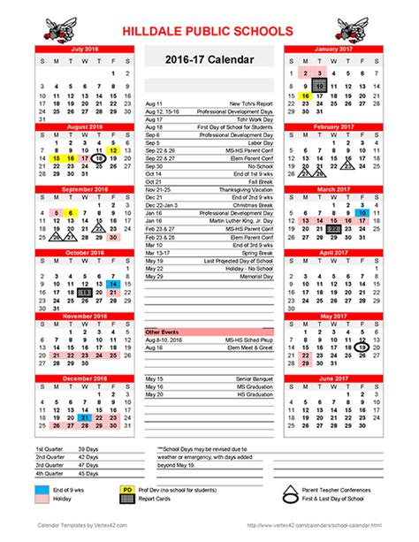 Columbia School Academic Calendar Bc Academic Calendar Calendar Template 2016