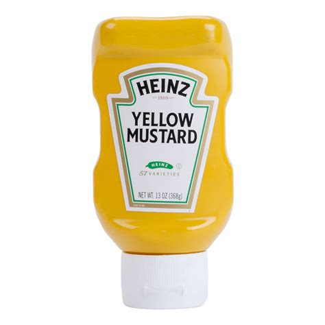 mustard yellow heinz yellow mustard 13 oz squeeze bottle