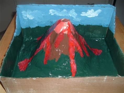 How To Make A Paper Volcano Model - five activities for a children s science club