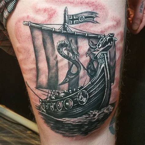 set sail with these 8 viking ship tattoos tattoodo