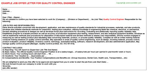 appointment letter for qc engineer appointment letter for qc engineer 28 images
