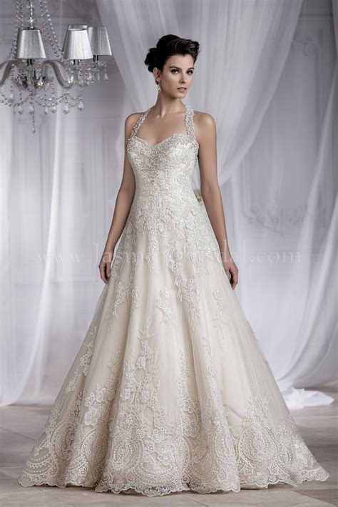 T182064 Sweetheart Neckline Lace Wedding Dress with