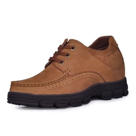 shoes to make taller style mens nubuck leather casual height increasing