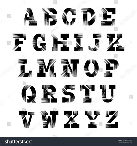 design elements fonts retro font set vintage letters vector stock vector
