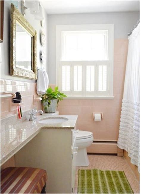 Pink Tile Bathroom Decorating Ideas by 75 Best What To Do With A 50 S Pink Bathroom Images On