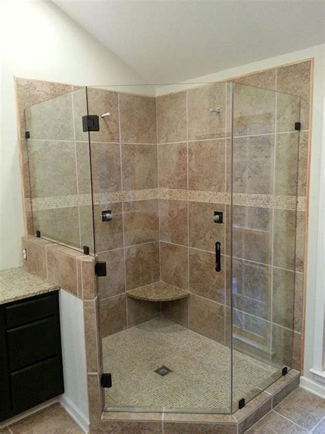 Custom Glass Shower Door by Frameless Shower Doors Custom Glass Shower Doors Atlanta Ga