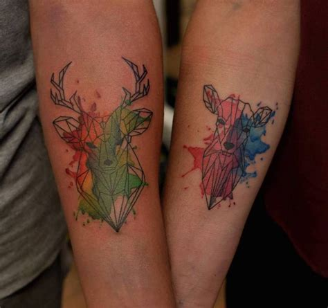 watercolor tattoos for couples creative tattoos that celebrate s eternal bond
