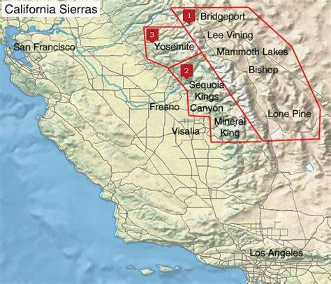 california hiking map kickstarter top hiking destinations and trails in california