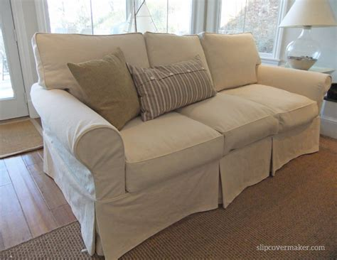 how to slipcover a couch denim slipcovers the slipcover maker