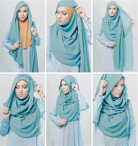 kreasi tutorial hijab segi empat simple terbaru
