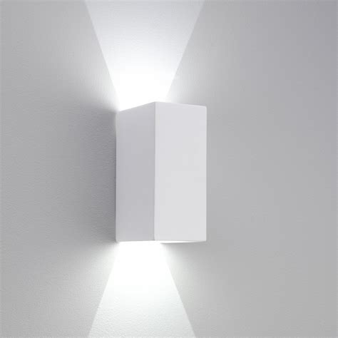 White Wall Lights Astro 7273 Parma 210 Led Wall Light White Plaster