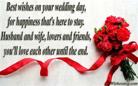 Wedding Wishes For by Best Wedding Wishes Messages For Married Wishesmsg