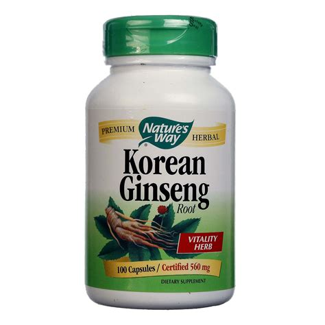 Dijamin Nature S Health Korean Ginseng 500mg 100 Capsules nature s way korean ginseng root 560 mg 100 capsules evitamins canada