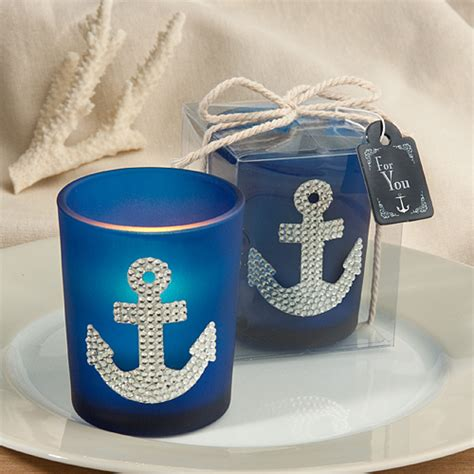 nautical theme favors spectacular anchor design candle favors nautical baby