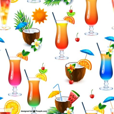 cocktail svg cocktail drinks seamless pattern vector free download