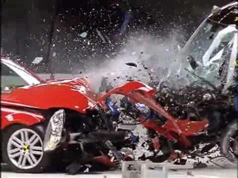 smart car collision test iihs crash test of mercedes c300 versus smart fortwo
